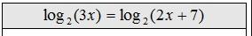 log equation